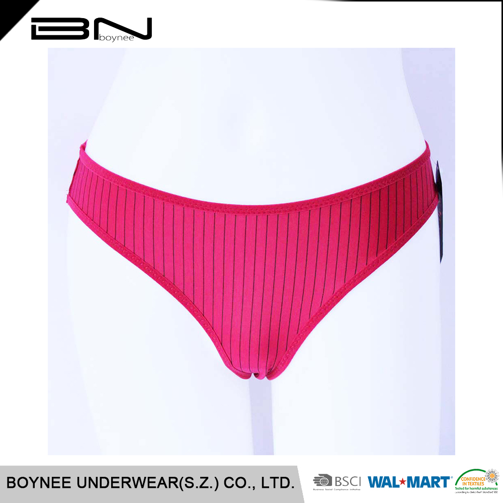 c3808e9301 China Gold Supplier Women Vertical Striped Underwear For Lady - Buy ...