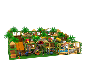 High Quality New Design 4 Level Jungle Theme Indoor Playground Equipment /Children's indoor Play Structure