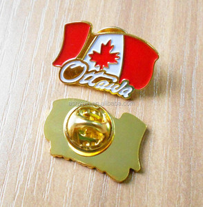 Canada flag maple leaf brooch pin lapel pin wholesale
