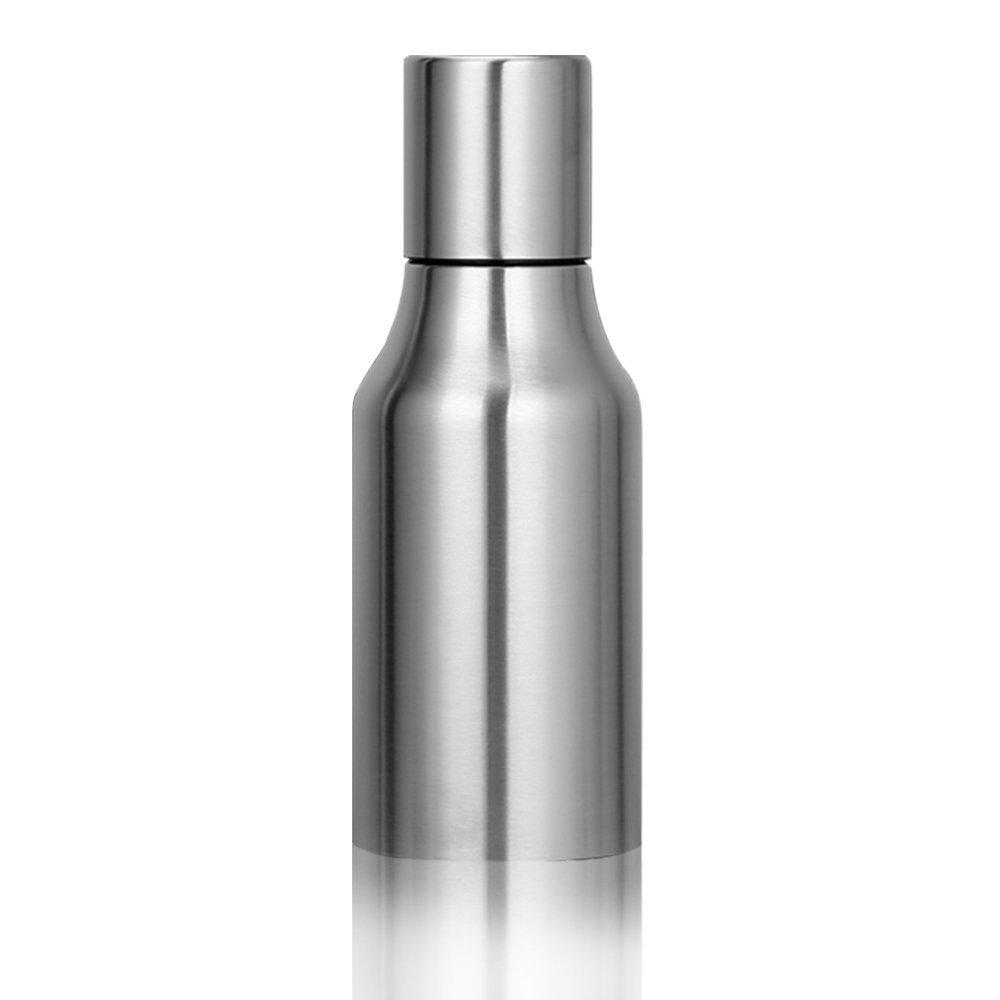 Higewei Japanese Stainless Steel Leak-proof Sauce/Vinegar/Oil Pot - Home Premium Quality Oil Bottle/Olive Oil Dispenser, 500 ml/Approximately 17 oz, Silver
