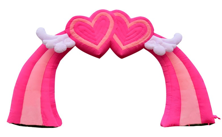 Lovely Inflatable Pink Heart, Inflatable Heart Cloud Wedding Decorations