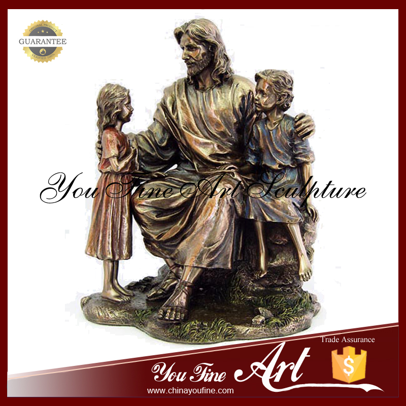 Casting Bronze Jesus With Children Ctatue