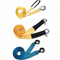 Auto Truck 3 Tons Heavy Duty Car Road Emergency Tow Towing Strap Cable Hook Rope