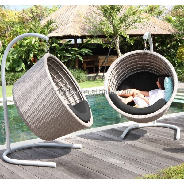 Cool Latest Bowl Shaped Modern Balcony Hanging Chair Wicker Furniture Outdoor Round Swing Buy Outdoor Round Swing Balcony Swing Chair 2016 Modern Ibusinesslaw Wood Chair Design Ideas Ibusinesslaworg