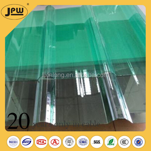 Wholesale luxury bathroom floor corrugated transparent roof tile