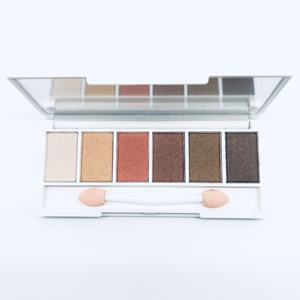 your brand private label pigments custom makeup eyeshadow 6 color palette