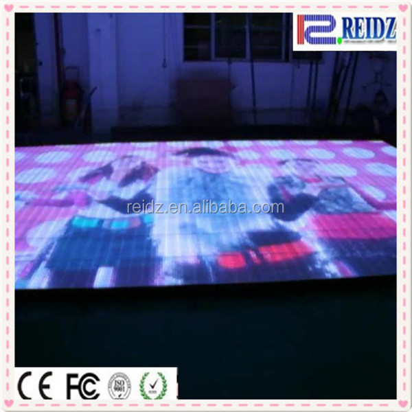 Disco DJ stage HD SMD video DVI control portable white led dance floor for rental