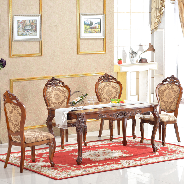 Foshan wooden kitchen furniture dining table set dining tables and chairs