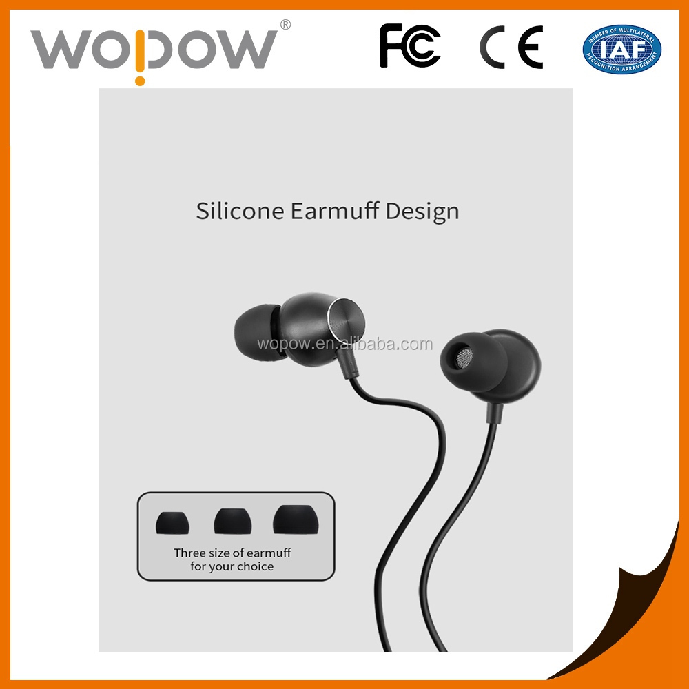 Wopow heavy bass metal piston in-ear stereo MP3 gaming headset with mic