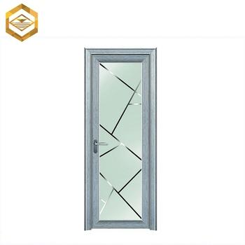 Venta al por mayor moderno de aluminio blanco frost puerta for Puertas de aluminio blanco para bano