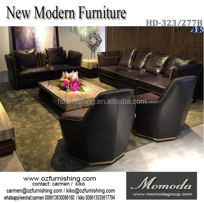 Hd319 Foshan Furniture Leather Living Room Sofas Germany