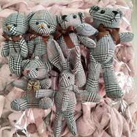 Bag Pendant Bouquet Wishing Rabbit Bear Fabric Doll Accessories Flower Keychains Mini Plush Dolls