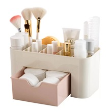 Small Plastic Makeup Cosmetic Organizer with Drawer
