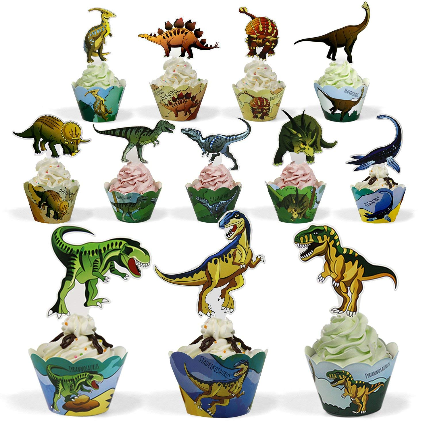 Home & Garden Good Dinosaur Roar {bronto} Edible Round Cake Topper Decoration