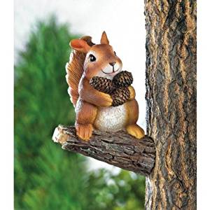 Get Quotations Squirrels Garden Decor Squirrel Gathering Nuts Tree Yard Art