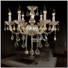 Wholesale traditional decorative hanging pendant light crystal chandelier light MD6608L6