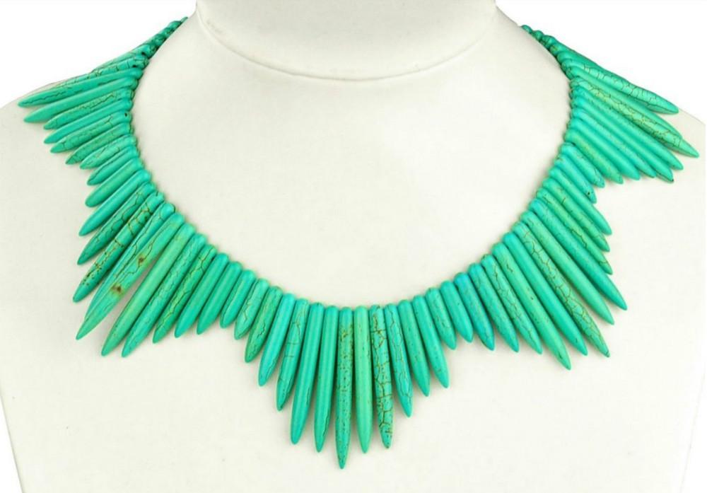 2014 новая женщина одежда аксессуары бирюзовый ожерелье для ну вечеринку лучший матч ожерелье
