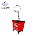 Cheap Customized Printed Silicone Rubber Souvenir Keychain