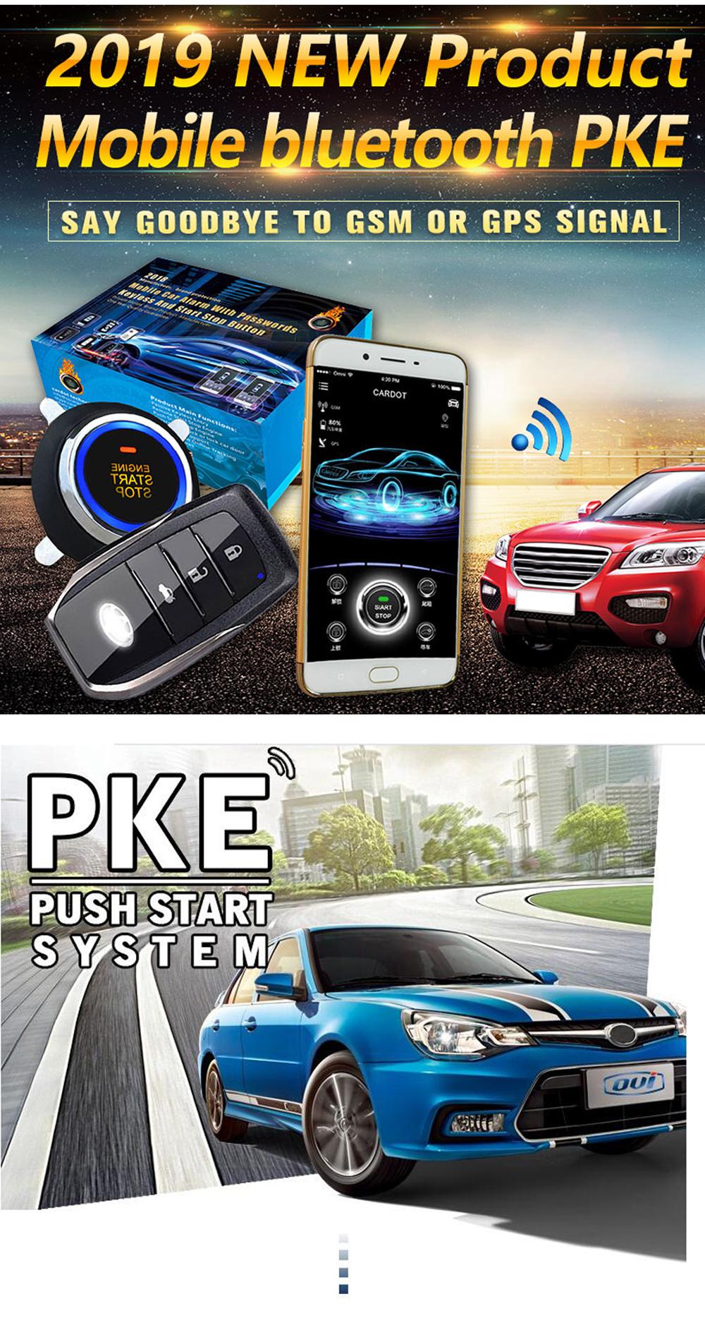 Cardot Easy Install Car Alarm for cars and smart phone control GPS module