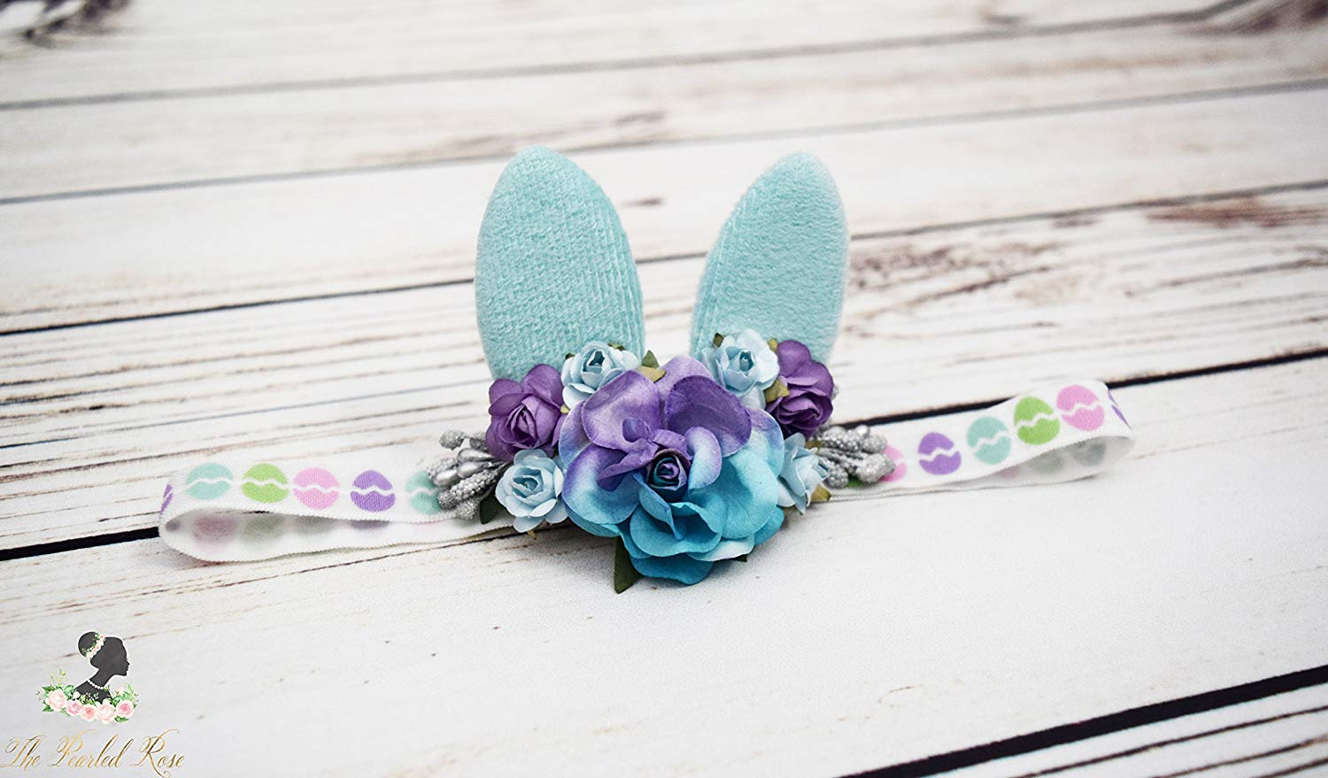 Get Quotations · Bunny Headband - Bunny Ears - Bunny Costume - Light Blue  Purple Easter Headband - Baby 29409d08dd92