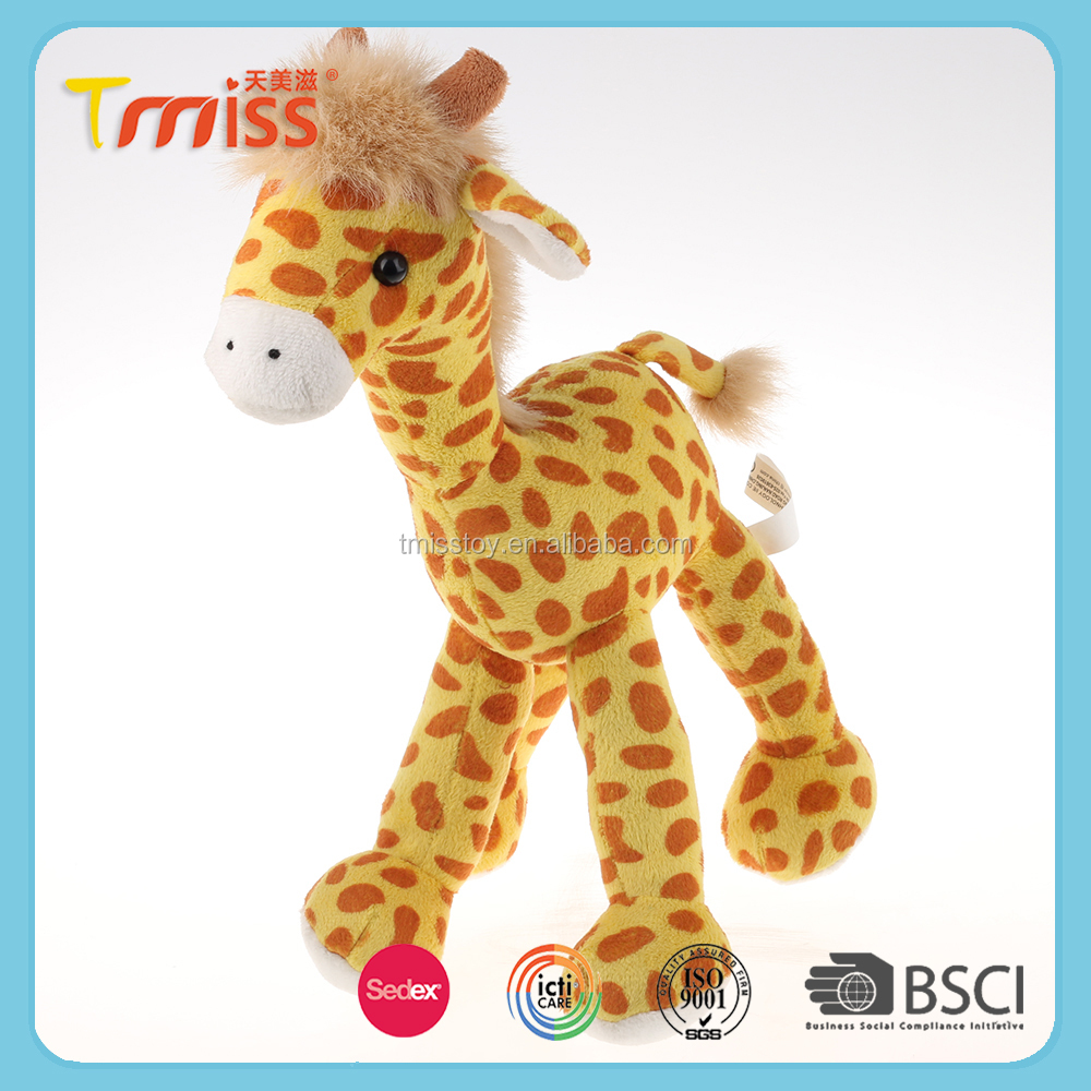 Foreign trade cartoon music plush toys dolls super soft yellow giraffe