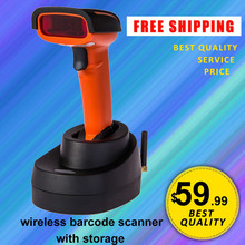 JP-M2 Free Shipping! Quality 433HZ Wireless Barcode reader Bar Scanner Inventory Storage wireless barcode scanner with memory
