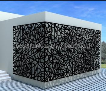 Laser Cut Metal Balcony Railing