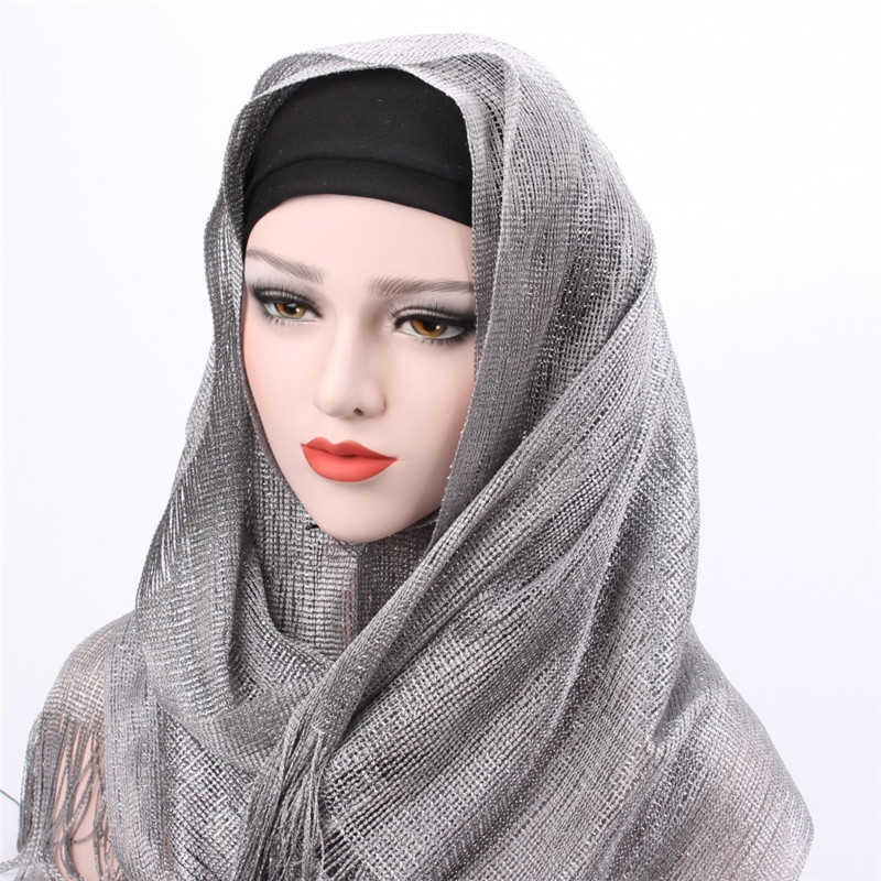 Cosum 2018 new polyester scarf manufacturer south african scarf wrap shiny hijab for women