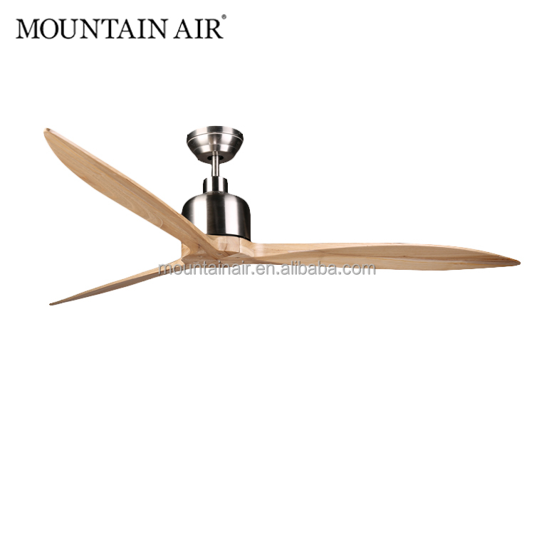 Dc Motor Natural Wood Blade Ceiling Fan