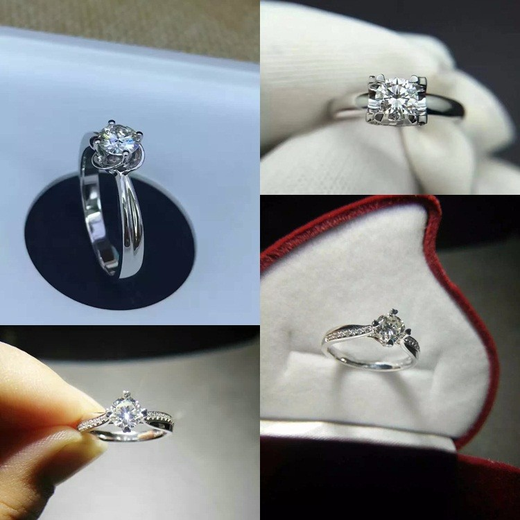Stunning 6.5mm Round Brilliant Cut D E F White Moissanite Stone Per Carat Price for Wedding Ring