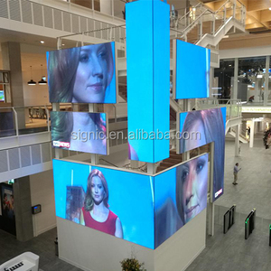 P4 round rollable billboard foldable church led display screen