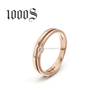 316 stainless steel wedding ring, rose gold ring for annivirsary, engagement