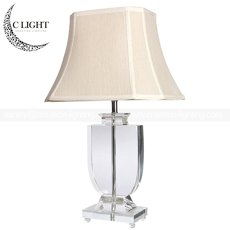 Aluminum In Gold Plate Lamp Body Home Goods Crystal Table Lamps Zhongshan Factory
