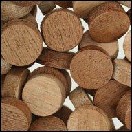 """WIDGETCO 5/8"""" Mahogany Wood Plugs, Face Grain"""
