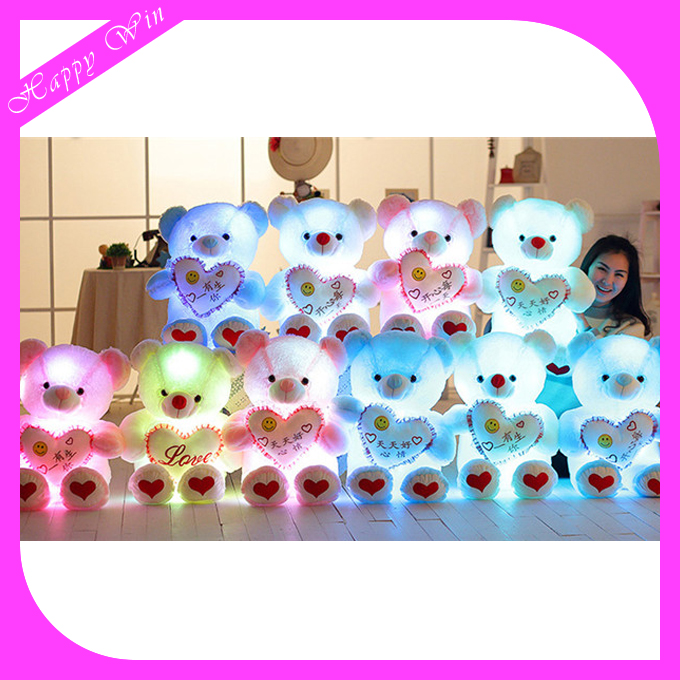 Light Up Teddy Bear Plush toy/Light Up Teddy Bear /Led Light Teddy Bear for Christmas Decoration