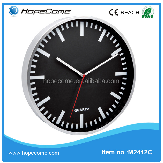 (M2412C)Popular in Europe aluminium wall clock wholesale metal art