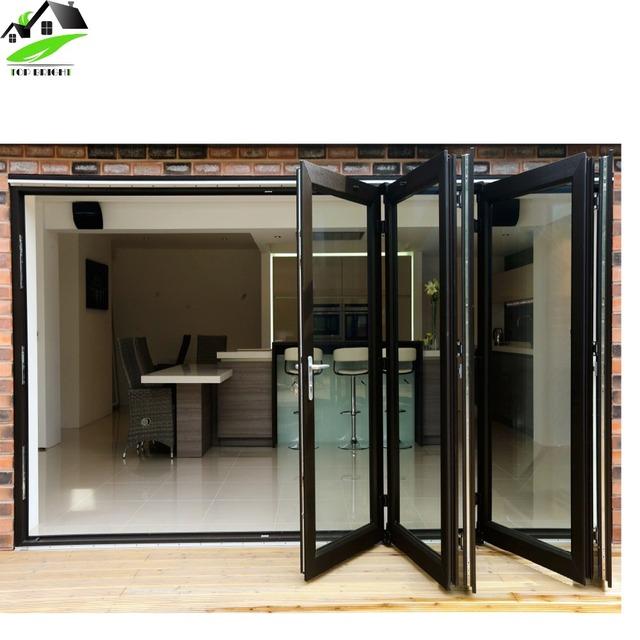 Front Door Designs Exterior Aluminium Glass Folding Sliding Door With Aluminium  Frame Hinge Handle