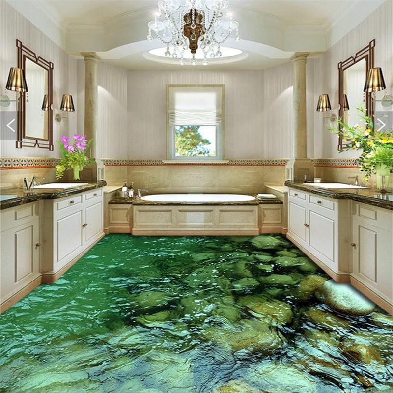 Modern floor painting hd natural landscape stone - Waterproof floor paint for bathrooms ...