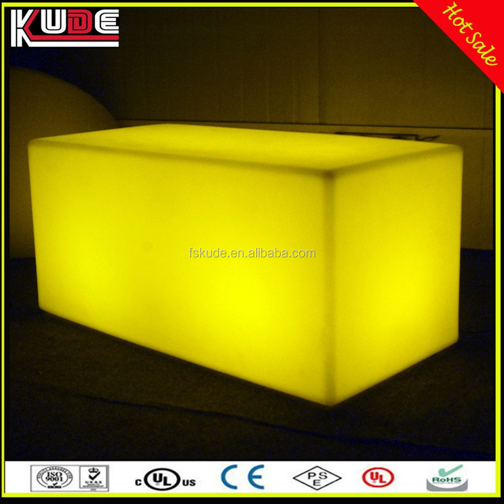 Glowing Furniture Lighting LED Bench/LED Light Bench Long Square Stool For Event Party