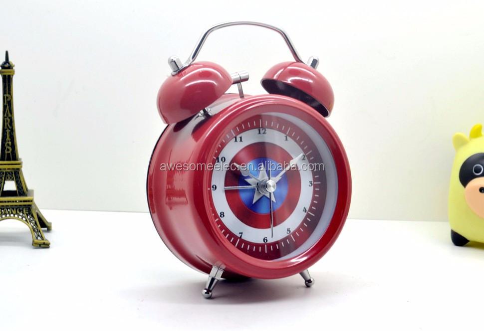 Promotion Retro Alarm Clock Round Table Clock Table