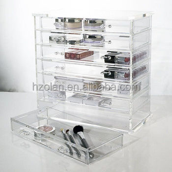 7 Drawer Acrylic Jewelry Organizer Cosmetic Deluxe Necklace Storage Box Buy 7 Drawer Clear Acrylic Jewelry Chest Organizer Cosmetic Deluxe Necklace Storage Keeper Clear Acrylic Jewelry Chest Clear Acrylic Necklace Storage Keeper Product