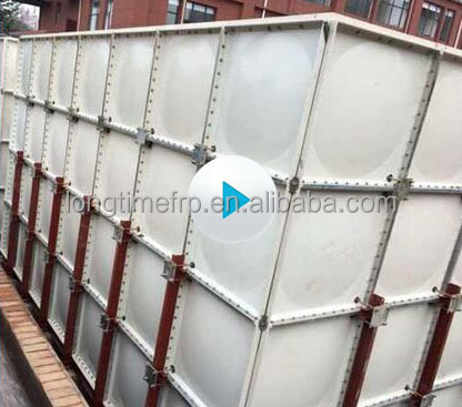 low price Modular GRP SMC fiberglass Composite roof Water Tank aquaculture tanks