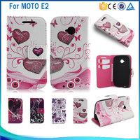 For Moto E2 Wallet Leather Case,For Motorola E2 (2015) (2nd Gen) / E+1 xt1511 xt1527 Printing phone case