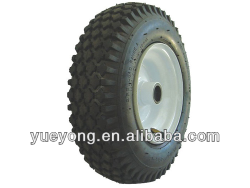 13 inch 4.10/3.50-6 air tire with steel rim