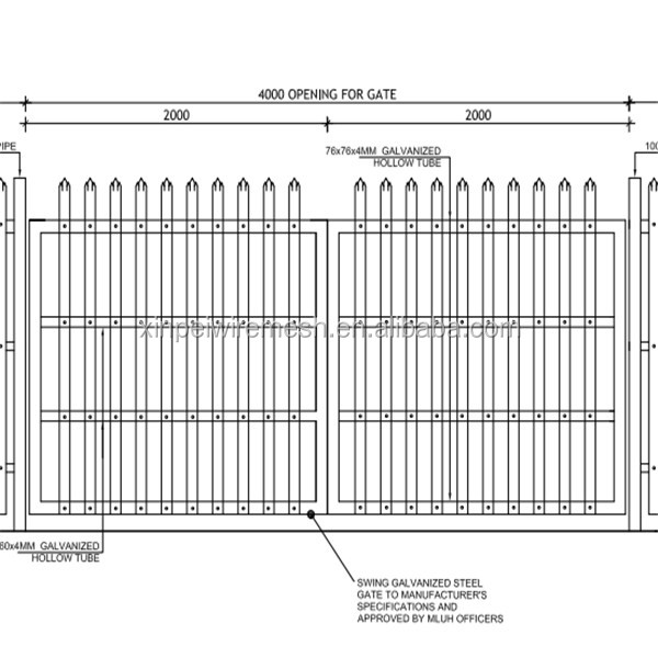 Palisade Fencing / Wrought Iron Fence / Models Of Gates And Iron ...