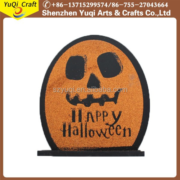 Tombstone Chalkboard Halloween Decoration Wooden Hanging Sign