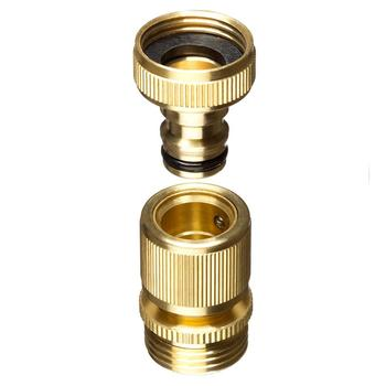 Garden Hose Quick Connector 3/4 Inch GHT Brass Easy Connect Fitting Male  And Female