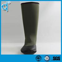 Lightweight Army Green Women Rubber Rain Boots With Neoprene Upper ...