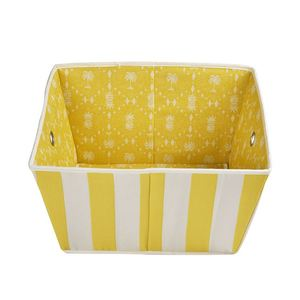 Cheap price yellow&white earring storage bin warehouse side opening hat storage box