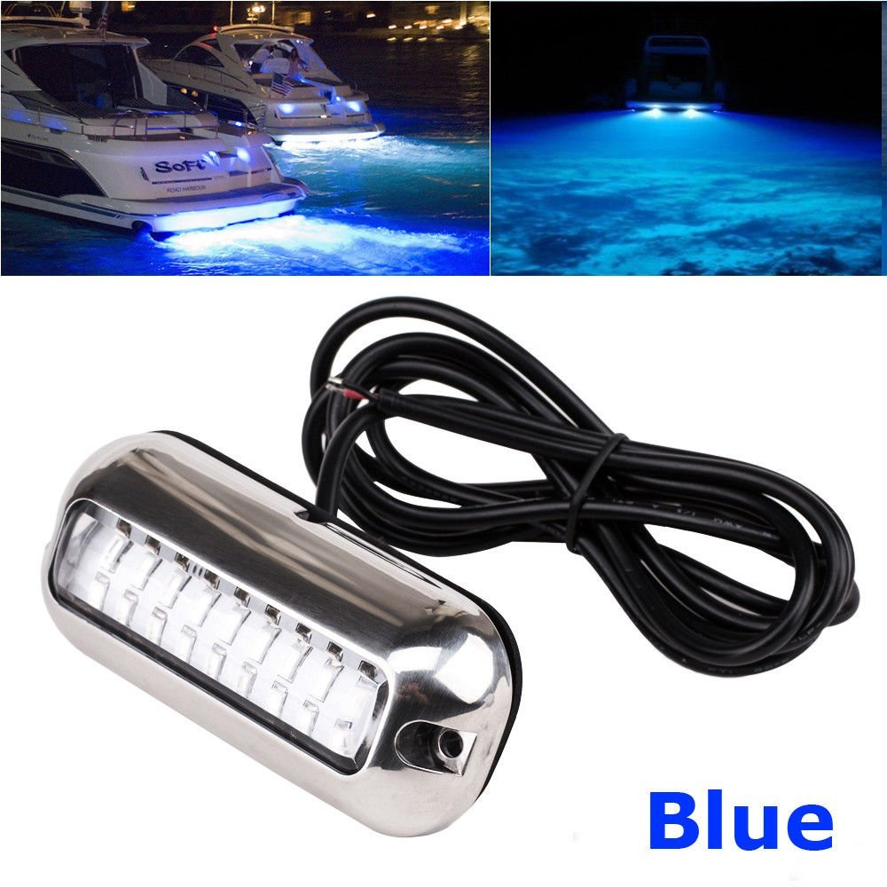 Boat Parts & Accessories Reasonable 50w 27led Red/blue/green Boat Light Underwater Pontoon Marine Transom Light Ip68 Waterproof Stainless Steel Anchor Stern Lamp Atv,rv,boat & Other Vehicle
